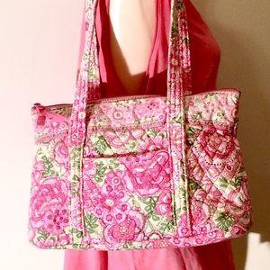 Vera Bradley pink petal tote bag 10x14